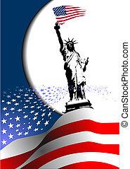 –, unito, image., aquila, americano, 4, stati, bandiera, vettore, america., luglio, giorno, indipendenza
