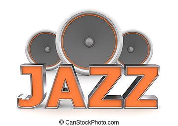 �, arancia, altoparlanti, jazz