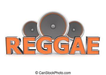 �, reggae, altoparlanti, arancia