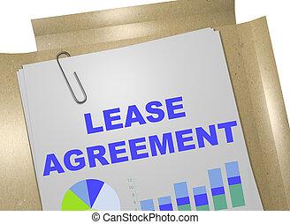 -, affari, accordo, contratto affitto, concetto