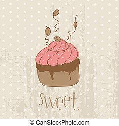 -, album, disegno, invito, cartolina, torta, vendemmia, congratulazione