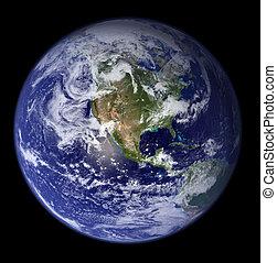 -, america, nord, terra, spazio