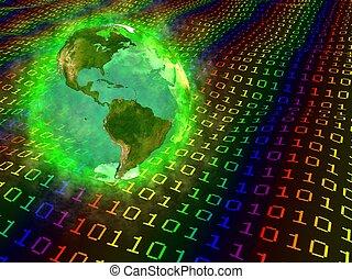 -, america, terra, digitale, dati