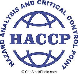 -, analisi, critico, francobollo, controllo, emblema, azzardo, haccp, punti