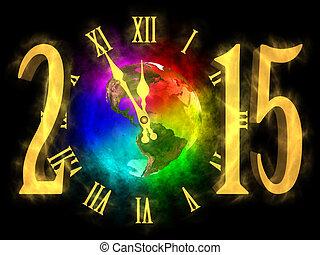 -, anno, 2015, nuovo, america, felice