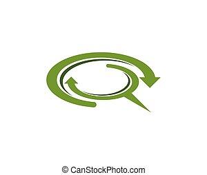 -, cerchio, vettore, tecnologia