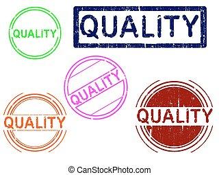 -, francobolli, 5, grunge, qualità