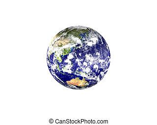 -, isolato, pianeta, fondo, asia, terra, bianco