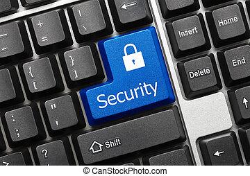 -, key), tastiera, concettuale, (blue, sicurezza
