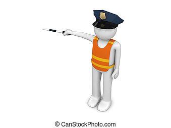 -, lavorante, controllore traffico, collezione