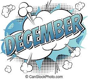-, libro, comico, stile, parola, dicembre
