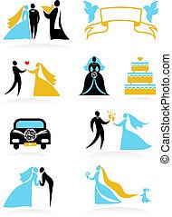 -, matrimonio, 2, icone