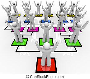 -, organizzazione, rallying, truppe, grafico