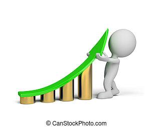 -, persona, miglioramento, 3d, statistica