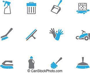 -, pulizia, tono, attrezzi, duetto, icone