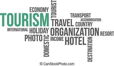 -, turismo, nuvola, parola