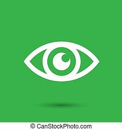 -, vettore, occhio, illustrazione, icona