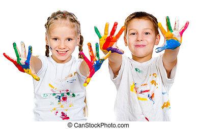 0bhands, vernice, bambini, 0b