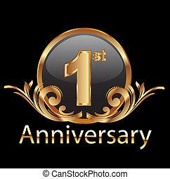 1, celebrazione, anniversario, primo