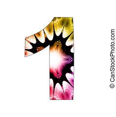 1, disegno, astratto, numero