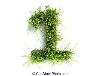 1, fatto, -, numeri, erba