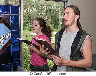 1, inni, canto, chiesa