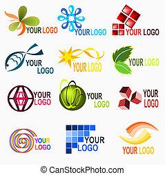 1, logotipo, elementi