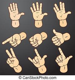 1, set, mani