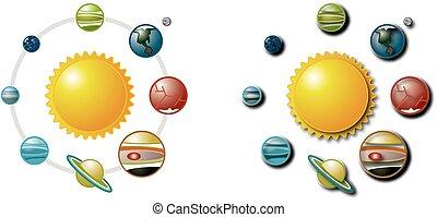 1, sistema, solare