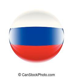 10, forma, eps, bandiera, vettore, russia, ball., icona