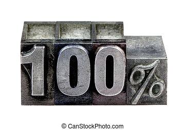 100%, letterpress