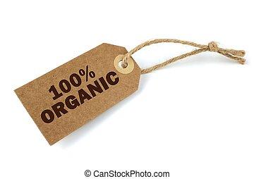 100%, organico, etichetta