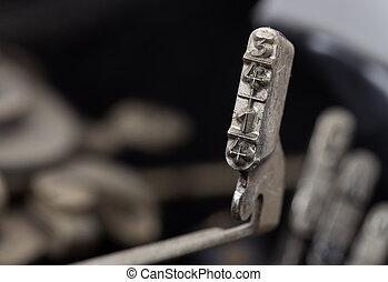 1/4, vecchio, manuale, -, 3/4, martello, macchina scrivere