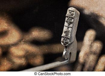 1/4, vecchio, manuale, -, filtro, riscaldare, 3/4, martello, macchina scrivere
