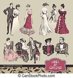 19, moda, secolo