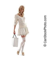 #2, borsa, shopping, biondo, splendido
