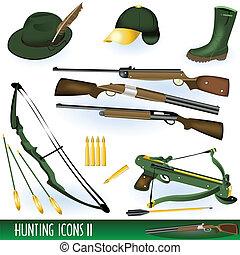 2, caccia, icone