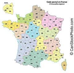 2-digit, 2017, francia, postcodes, mappa