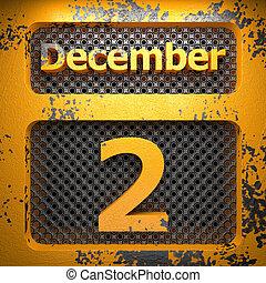 2, dipinto, acciaio, dicembre
