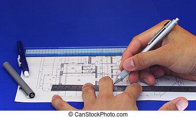 2, disegno, piano, pavimento