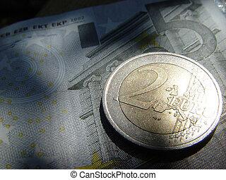 2, euro, più