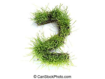 2, fatto, -, numeri, erba