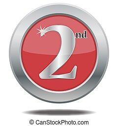 2, posto, argento, icona