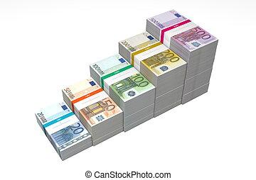 20, -, rampa, banconote, passi, euro, 500, più alto