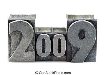 2009, letterpress