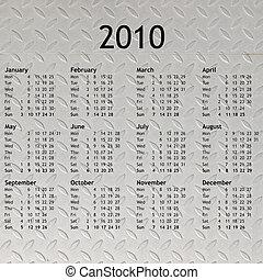 2010, calendario