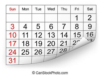 2010, calendario, gennaio