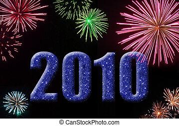 2010, fireworks, anno nuovo