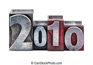 2010, letterpress