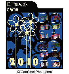 2010, promozionale, calendario